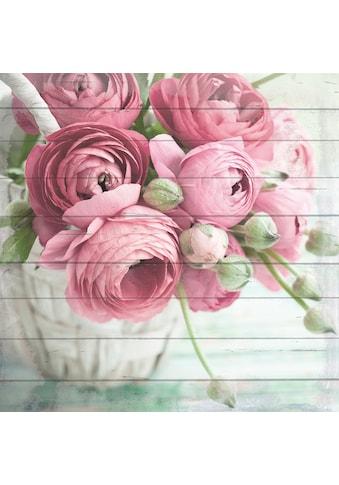 queence Holzbild »Blumenkorb«, 40x40 cm kaufen