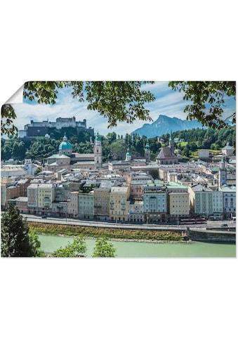 Artland Wandbild »Salzburg Blick auf die Altstadt«, Österreich, (1 St.), in vielen... kaufen