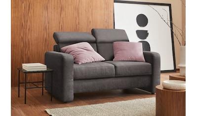 sit&more 2-Sitzer »Bologna«, inklusive Kopfteilverstellung und Federkern kaufen