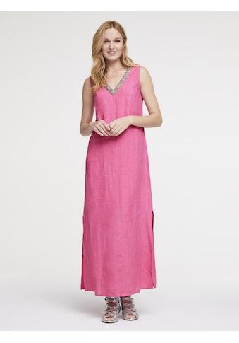 Leinenkleid mit Schmuckdetail kaufen