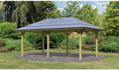 Karibu Holzpavillon »Bergen 2«, BxT: 592x338 cm kaufen