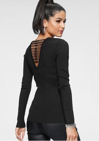 Melrose V-Ausschnitt-Pullover, mit besonderer Spitze am Rücken kaufen