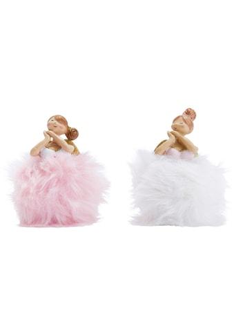Dekofigur »Rosa & Blanca«, mit Plüschkleid kaufen