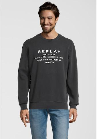 Replay Sweatshirt »mit Label-Print«, und Rundhals kaufen