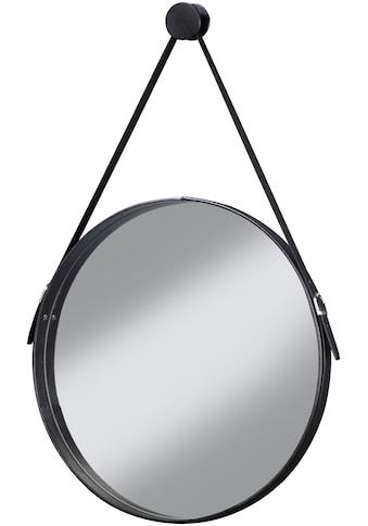 CYGNUS BATH Spiegel »Brooklyn«, runder Wandspiegel mit Halterung , Schwarz Durchmesser 51cm kaufen