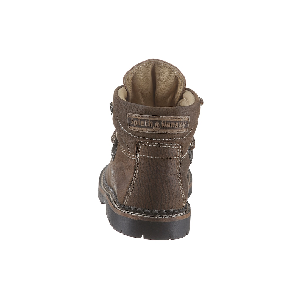 Spieth & Wensky Trachtenschuh Kinder aus weichem Nubukleder