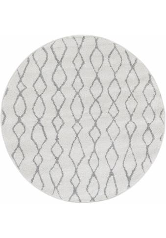 Andiamo Teppich »Bolonia 92«, rund, 6 mm Höhe, Rauten Design, Wohnzimmer kaufen