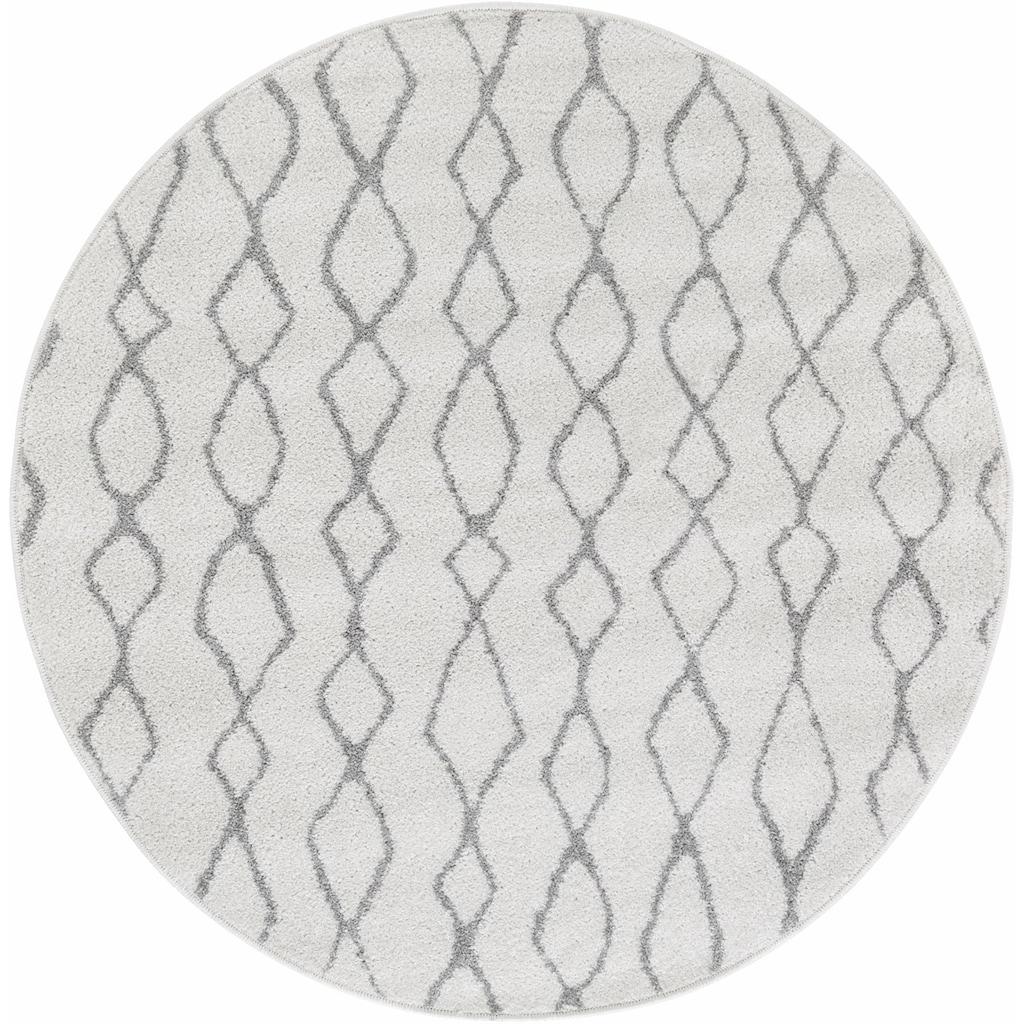 Andiamo Teppich »Bolonia 92«, rund, 6 mm Höhe, Rauten Design, Wohnzimmer