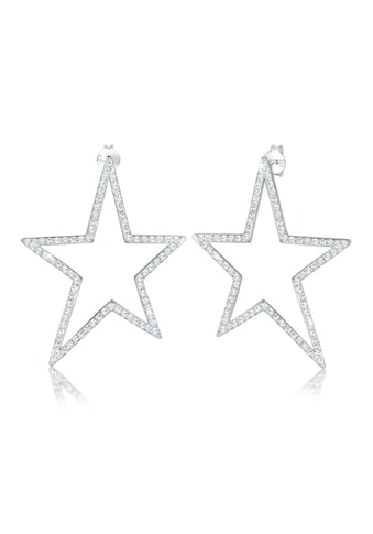 Elli Paar Ohrstecker »Hänger Stern Swarovski® Kristalle 925 Silber« kaufen