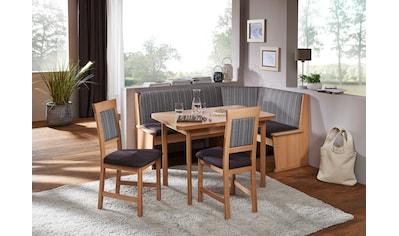 SCHÖSSWENDER Eckbankgruppe »Imola«, (Set, 4), Eckbank umstellbar, mit Auszug links und rechts 110(180)cm, Stühle massiv kaufen