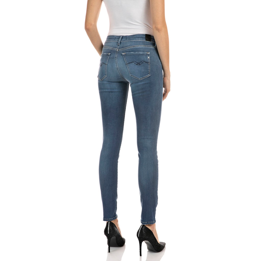Replay Skinny-fit-Jeans »New Luz«, dezenter Used-Look im 5-Pocket-Style