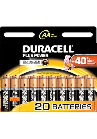 Duracell Batterie »Plus Power«, 1,5 V, (Packung) kaufen
