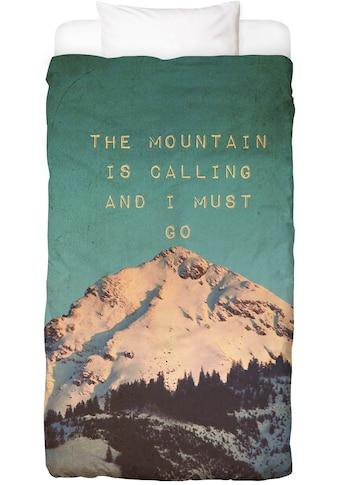 Bettwäsche »Mountain Is Calling«, Juniqe kaufen