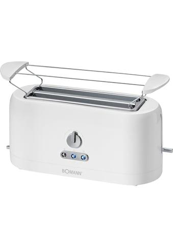 BOMANN 2-in-1-Toaster »TA 245«, 2 lange Schlitze, 1400 W kaufen