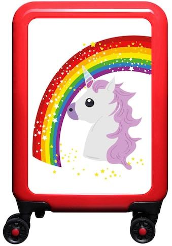 """meinTrolley Hartschalen - Trolley """"Einhorn Rainbow and Stars, 55 cm"""", 4 Rollen kaufen"""