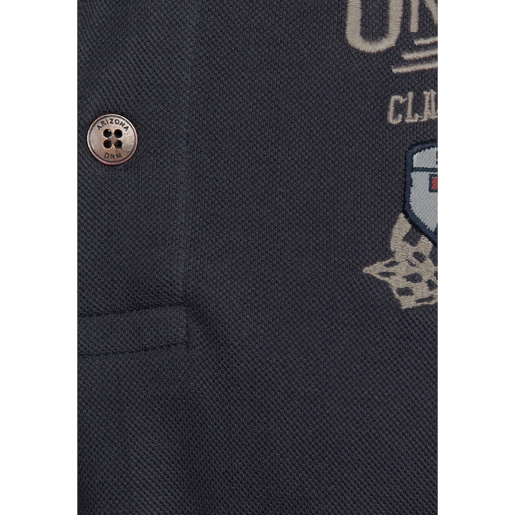 Arizona Poloshirt, in Piqué-Qualität und Bruststickerei