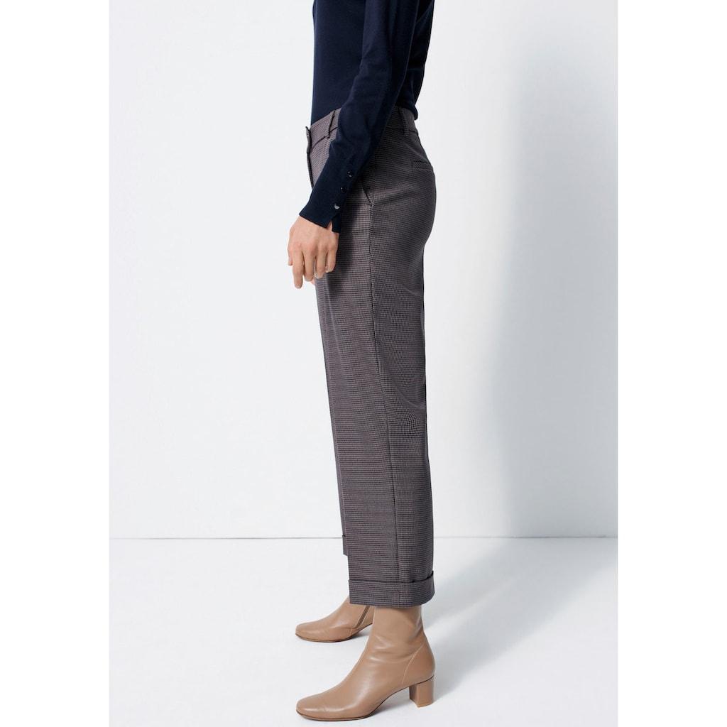 someday Bundfaltenhose »Celli minimal«, mit kleinem Karo-Muster