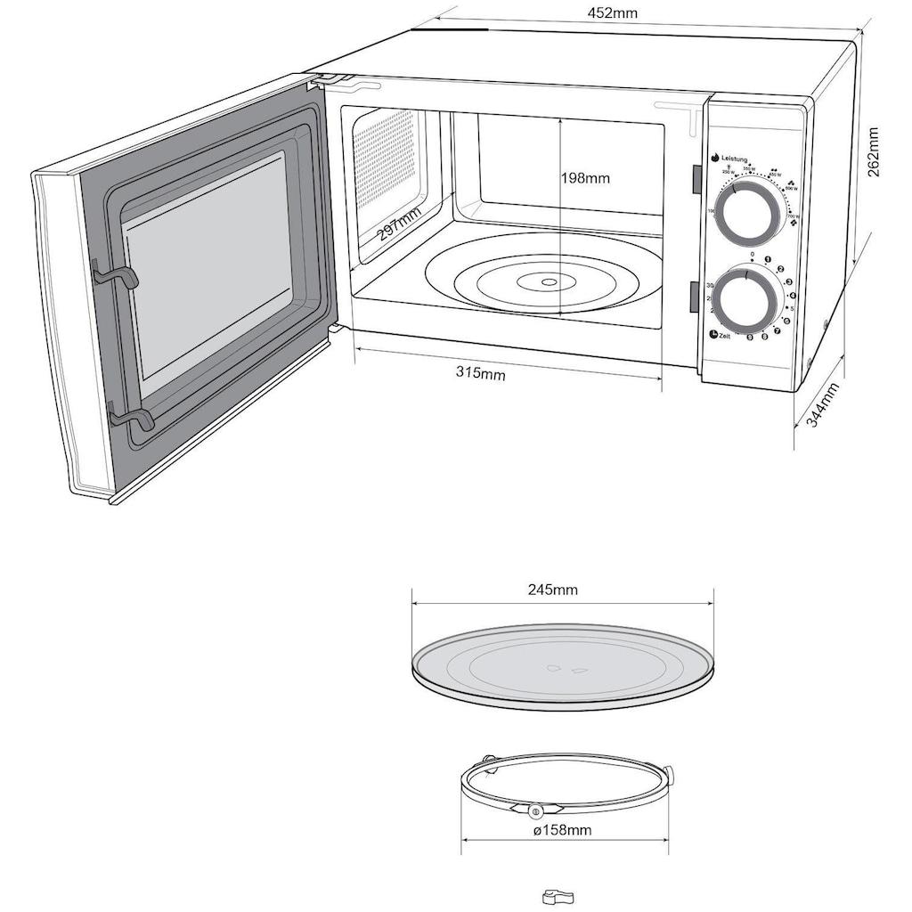 Hanseatic Mikrowelle »76409986«, Mikrowelle, 700 W, Auftaufunktion, schwarz