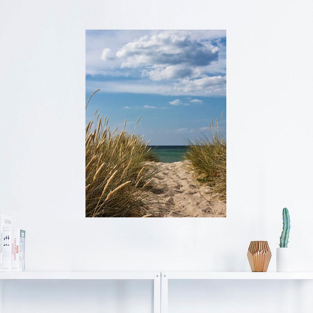 Artland Wandbild »Strandzugang an der Ostsee - Dänemark 9«, Strand, (1 St.), in vielen Größen & Produktarten - Alubild / Outdoorbild für den Außenbereich, Leinwandbild, Poster, Wandaufkleber / Wandtattoo auch für Badezimmer geeignet