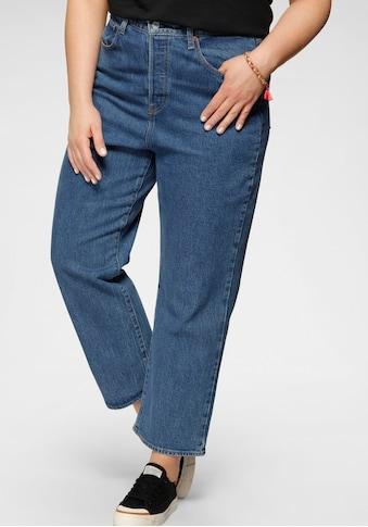 Levi's® Plus Ankle-Jeans »Ribcage Straight Ankle«, mit geknöpftem Hosenschlitz kaufen