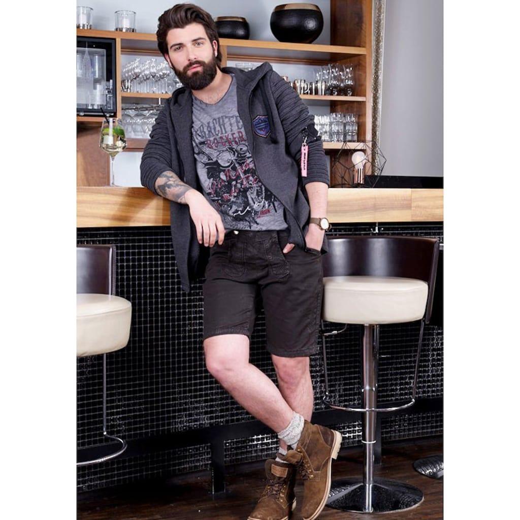 Andreas Gabalier Kollektion Trachtenshirt, Herren mit rockigem Printmotiv