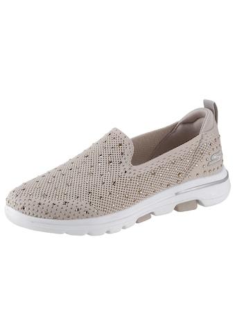 Skechers Slip-On Sneaker »Go Walk 5 - Limelight«, mit funkelnden Steinchen verziert kaufen