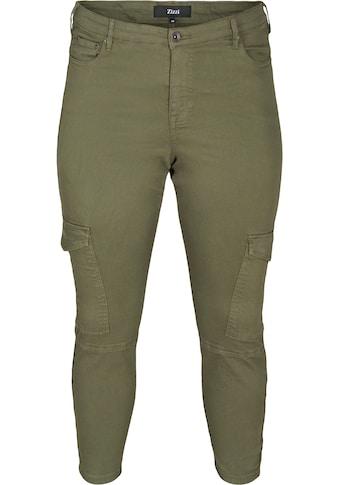Zizzi Cargohose, mit zwei großen Taschen auf den Oberschenkeln kaufen