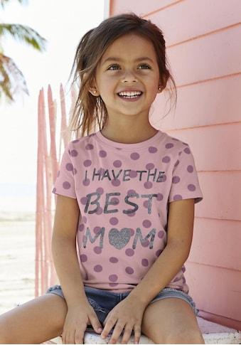 KIDSWORLD T-Shirt »BEST MOM«, süßer Glitzerdruck kaufen