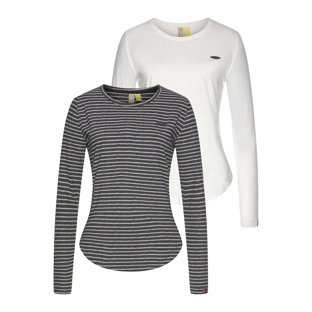 Alife & Kickin T-Shirt »LeaAK«, modisches Longsleeve mit Bogensaum& Rundhalsausschnitt