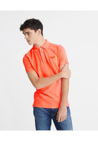Superdry Poloshirt, in gewaschener Optik kaufen