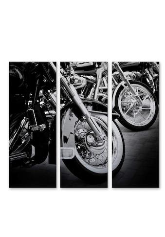 Wall-Art Mehrteilige Bilder »Motorrad Fan Motorcycle Wheels«, (Set, 3 St.) kaufen