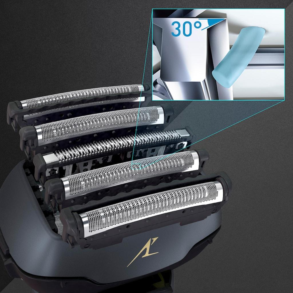 Panasonic Elektrorasierer »ES-LV97-K803«, Clean&Charge-Station, ausklappbarer Langhaarschneider, Nass/Trocken-Rasierer, 5-fach-Scherkopf mit Linearmotor, inkl. Reinigungs- & Ladestation