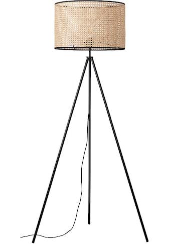 COUCH♥ Stehlampe »feines Geflecht«, E27, 1 St., Stehleuchte mit Wiener Geflecht Schirm, COUCH♥ Lieblingsstücke, Retro, standfestes Dreibein kaufen