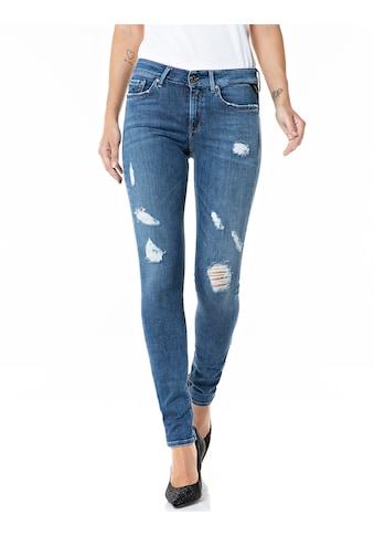 Replay Skinny-fit-Jeans, mit coolen, auffälligen Destroyed Effekten kaufen