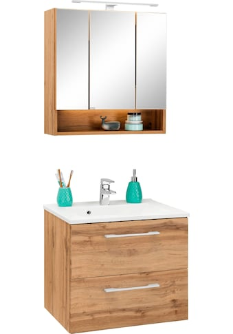 HELD MÖBEL Badmöbel-Set »Soria«, (2 St.), Waschtisch Breite 60 cm, Spiegelschrank kaufen