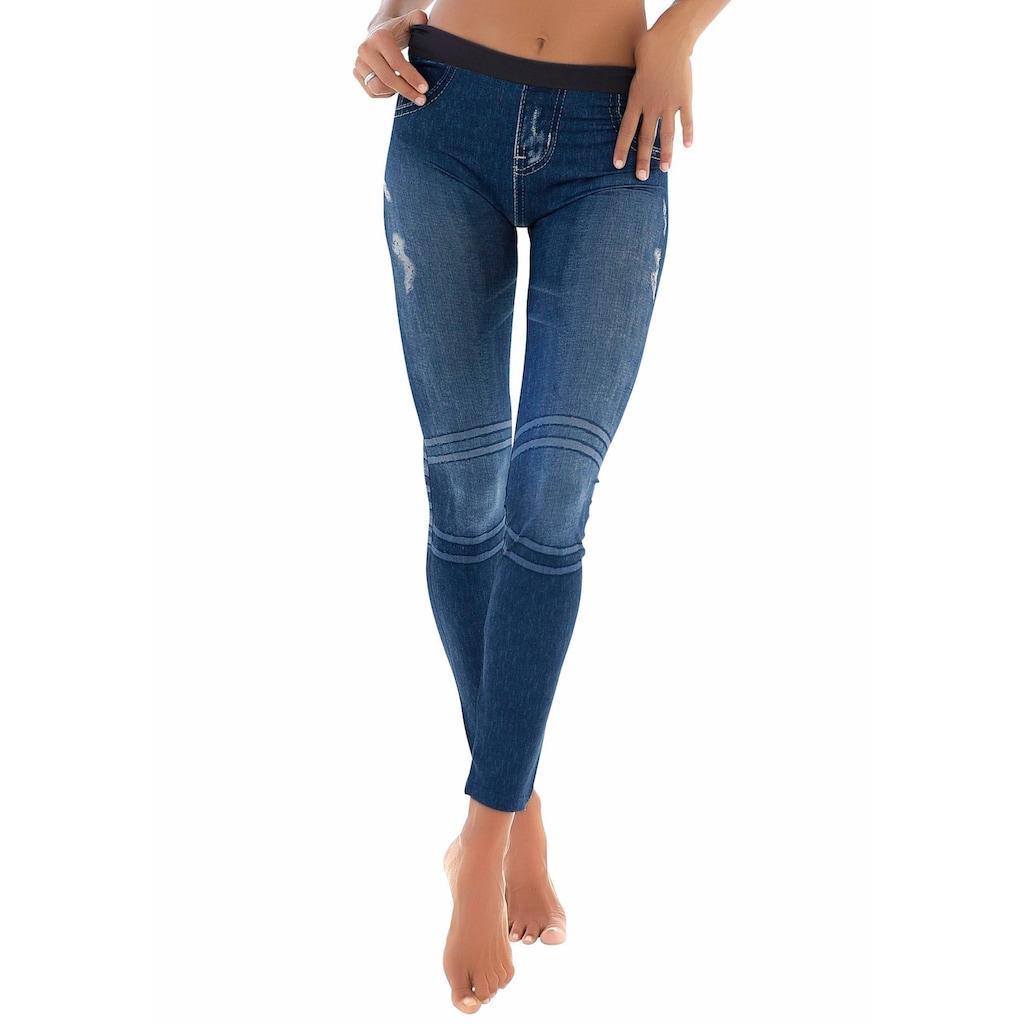 Buffalo Leggings, mit aufgedruckter Jeansoptik
