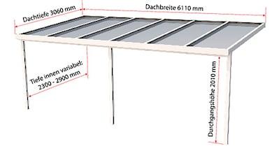 GUTTA Terrassendach »Premium«, BxT: 611x306 cm, Dach Polycarbonat gestreift weiß kaufen
