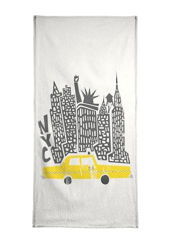 """Handtuch """"New York Cityscape"""", Juniqe kaufen"""