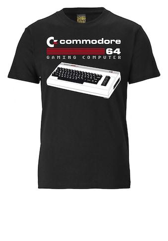 LOGOSHIRT Print-Shirt »Commodore 64«, mit lizenziertem Originaldesign kaufen