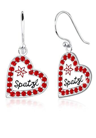 Elli Paar Ohrhänger »Herz Spatzl Kristalle 925 Silber« kaufen