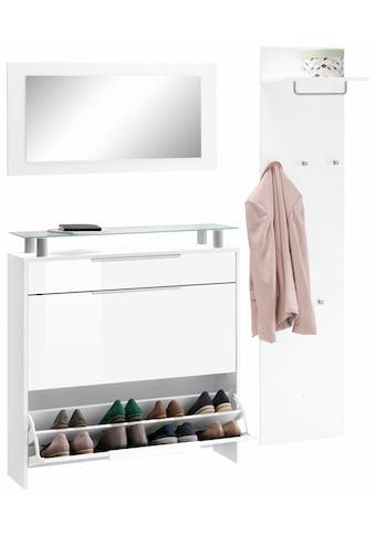 borchardt Möbel Garderoben-Set »Oliva«, (Set, 3 tlg.), hängender Schuhschrank kaufen