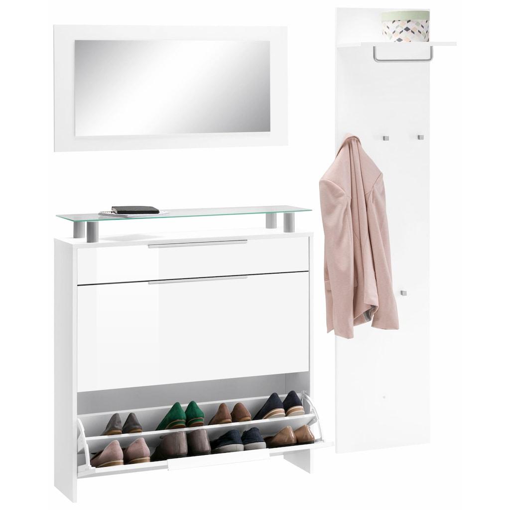 borchardt Möbel Garderoben-Set »Oliva«, (Set, 3 St.), hängender Schuhschrank
