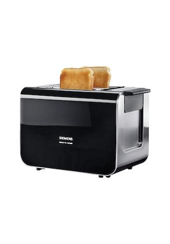 SIEMENS Toaster »Sensor for Senses TT86103«, 2 kurze Schlitze, für 2 Scheiben, 860 W, mit Quarzglasheizung, schwarz kaufen