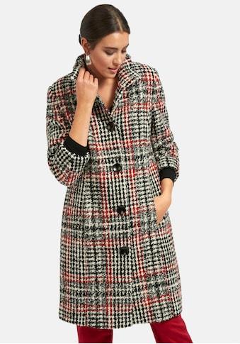 Emilia Lay Kurzmantel »Karo-Mantel«, mit Stehkragen kaufen