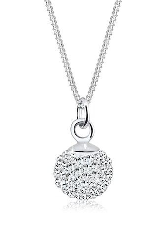 Elli Collierkettchen »Anhänger Kugel mit Swarovski® Kristalle Silber« kaufen