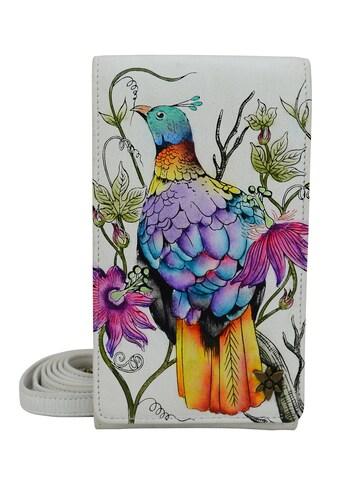 ANUSCHKA Brieftasche »Himalayan Bird aus handbemaltem Leder«, mit Handytasche und... kaufen