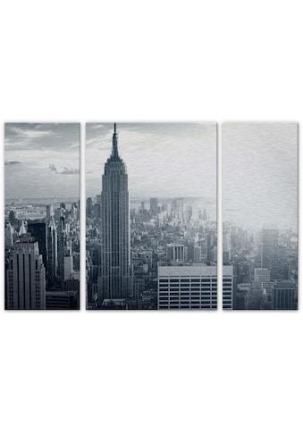 Wall-Art Mehrteilige Bilder »The Empire State Building Set«, (Set, 3 St.) kaufen