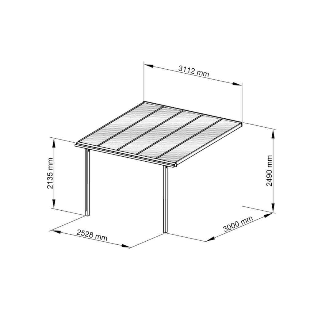 Beckmann Terrassendach »Trend Gr. 2«, BxT: 312x300 cm