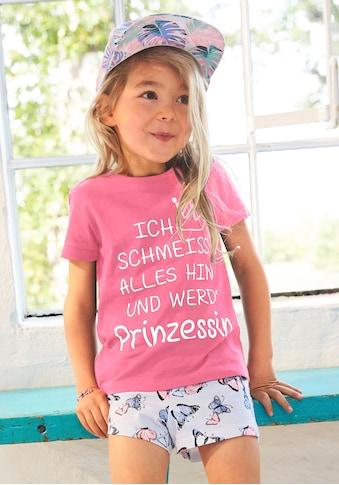 KIDSWORLD T-Shirt & Shorts, mit Prinzessinnen Spruch kaufen
