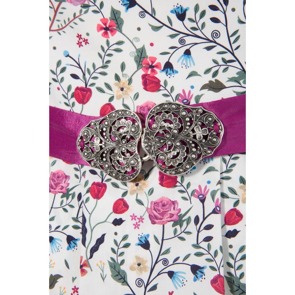 Love Nature Trachtenkleid, (2 tlg., mit Stoffgürtel), mit frühlingshaftem Blumenprint - Made in Austria